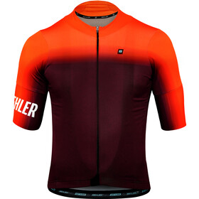 Biehler Dsgn.Lab Essential Maillot manches courtes Homme, gradient blur red